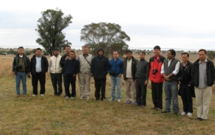 Visitors to ILWS from Loktak India at Lake Cowal NSW