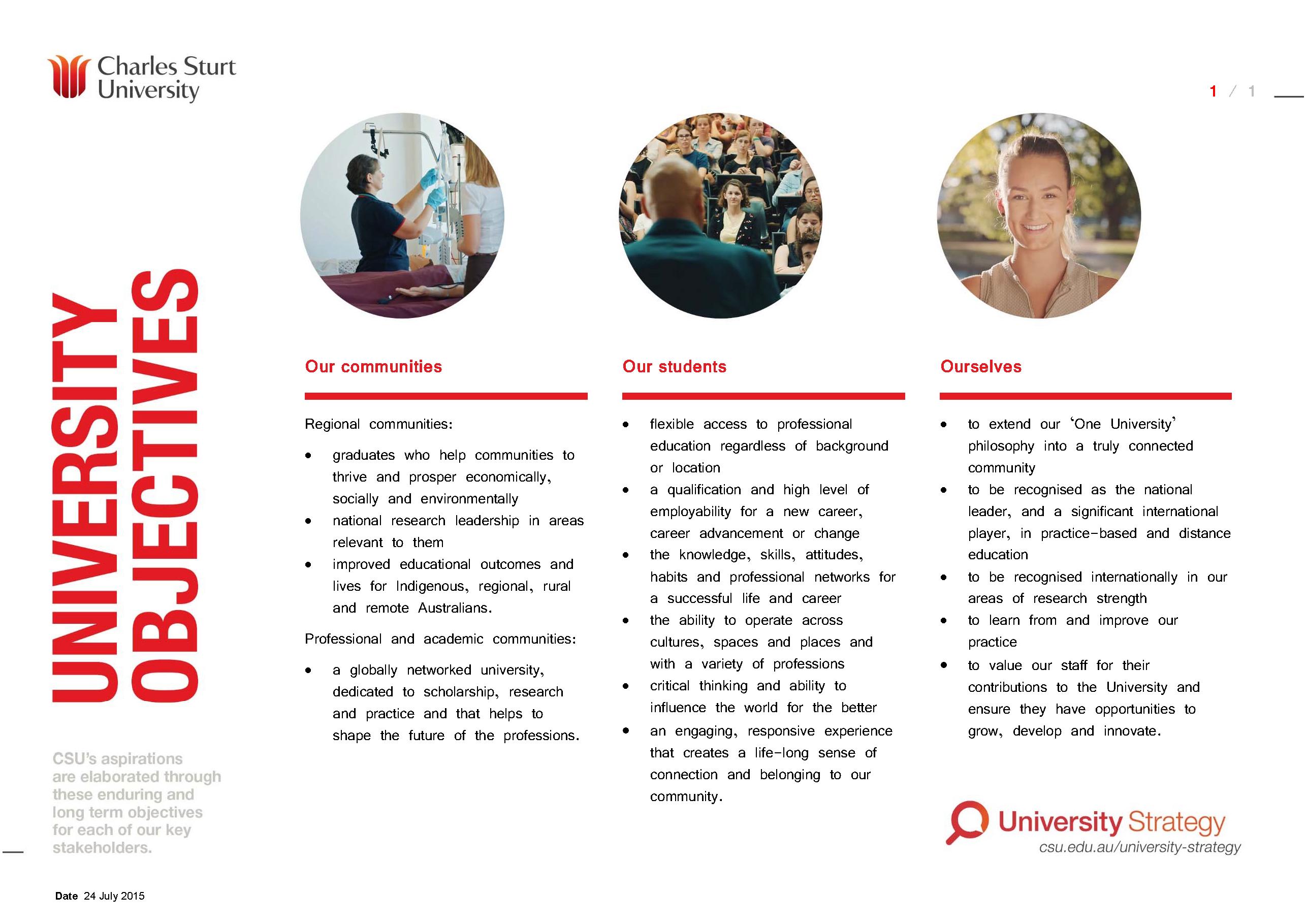 University Objectives