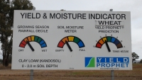 Yield Prophet Sign at the Field Site
