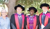 Professor Deirdre Lemerle, Assoc Prof Chris Blanchard, Dr Adeola Alashi and Prof John Mawson.