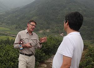 Professor Geoff Gurr in China