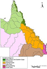 Queensland regions map