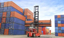Containers on dock 250x150