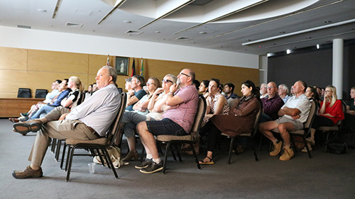 . A good crowd attended the screening of the film, 'Food Evolution' hosted by the Graham Centre