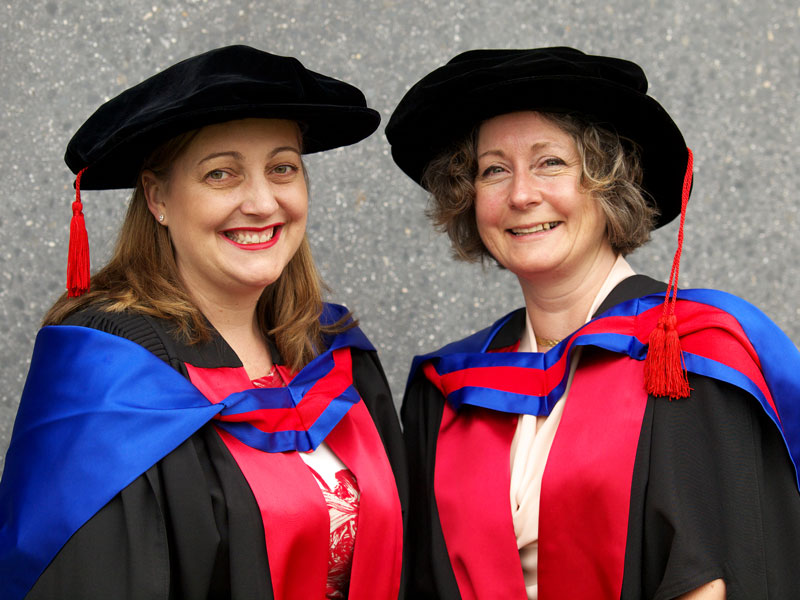 Drs Cylie Williams and Caroline Robinson received their doctorates during second science ceremony on 17 December