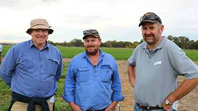 Sandy Biddulph farm consultant Cootamundra, Simon Flinn NSW DPI, Dr John Broster CSU