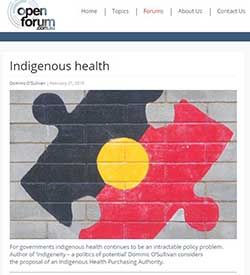 Indigenous Health Open Forum