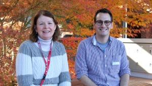 photo of Professor Leslie Weston and Mr Dom Skoneczny