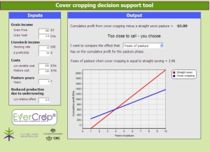 Screen sample of the Cover cropping support tool