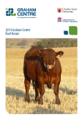 2014 Graham Centre Beef Forum Proceedings