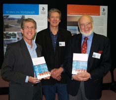 Left to right. Prof Allan Curtis, Prof Ted Lefroy(UTAS) and Dr John Williams, In