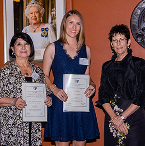 Ms Winsome Allen President of Sydney Mechanics School of Arts, Ms Cara Wilson and Mrs Hurley, the Governor's wife and Patron of NCWNSW (photo courtesy Volunteer Photography)