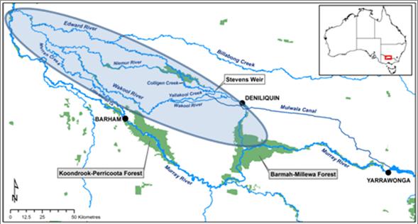 Edward-Wakool Map