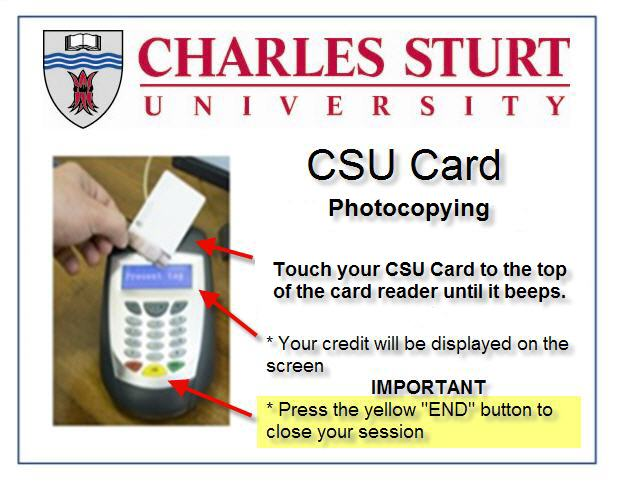 how to swipe the csu card