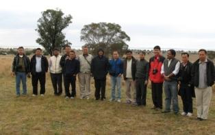 Visitors to ILWS from Loktak India at Lake Cowal NSW