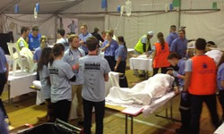 Photo of the medical tent at the Port Macquarie Iron Man