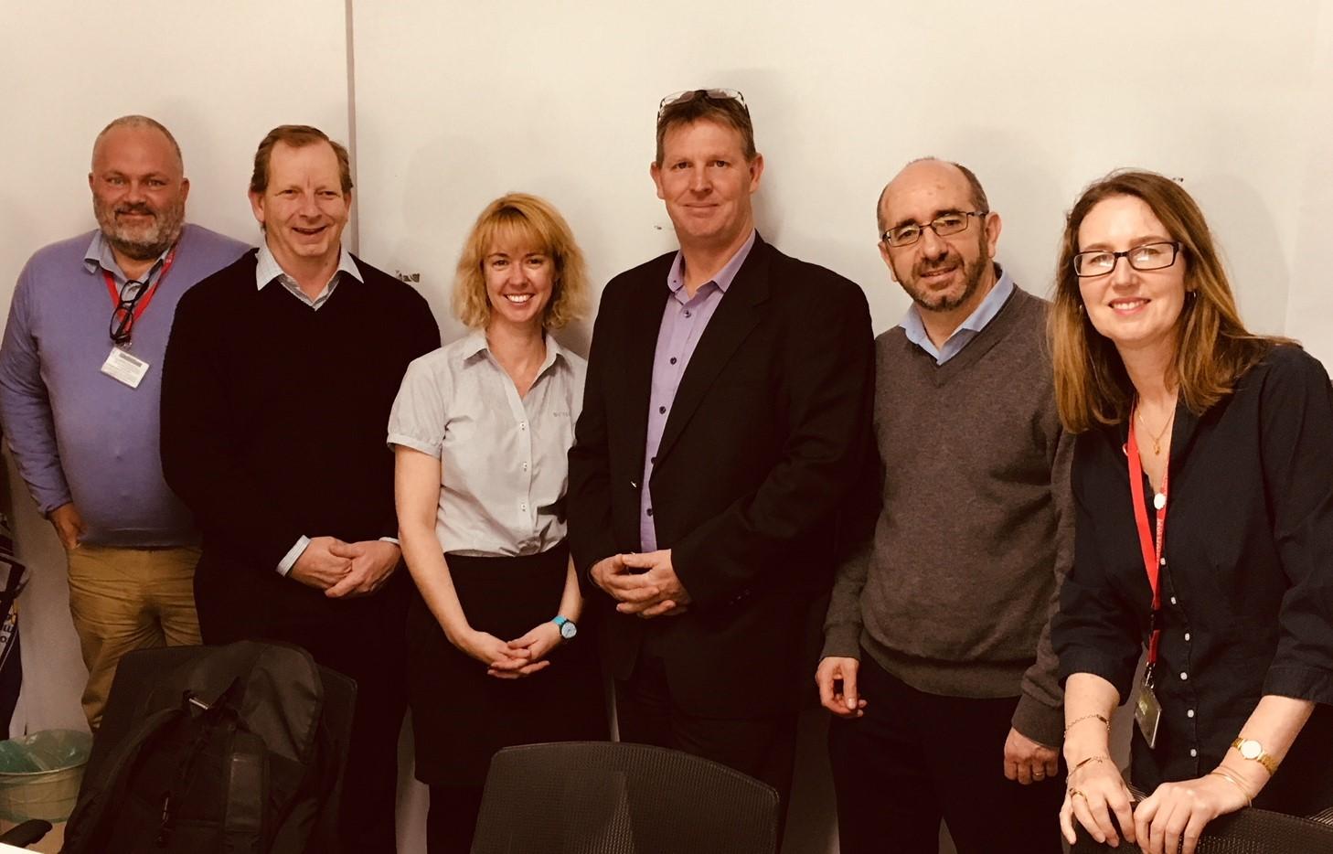 LiFE workshop (left) Kym Witney-Soanes, Bryan Baillie, Steve Wakem, Lyndal Jones, Paul McLeod, Bernadette Crombie, Davin Kendall and Ed Maher
