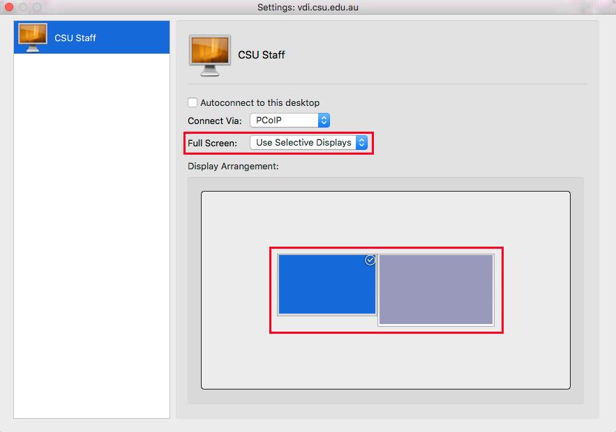 Image showing selecting monitors on MacOS