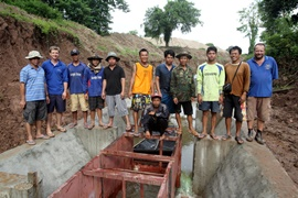 Fishway project in Pak Peung village, LaoPDR