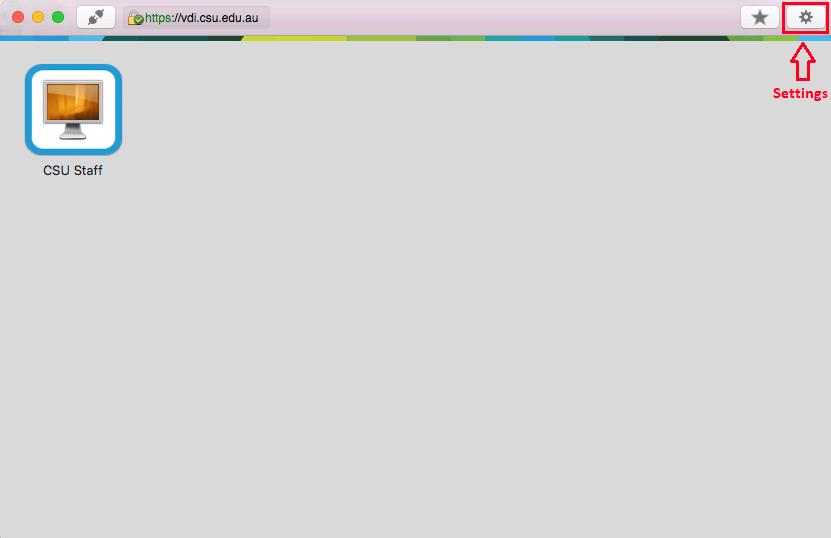 Image showing Horizon settings on MacOS