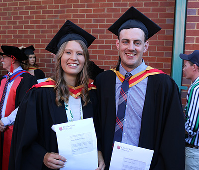 CSU Honours student Ms Jessica Simpson and Mr Hayden Petty