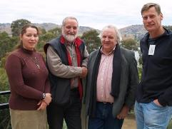 Left to right. Prof Allan Curtis, Prof Ted Lefroy(UTAS) and Dr John Williams, Institute adjunct.