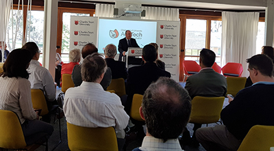The Member for Wagga Daryl Maguire launched the CSU AgriTech Incubator in September