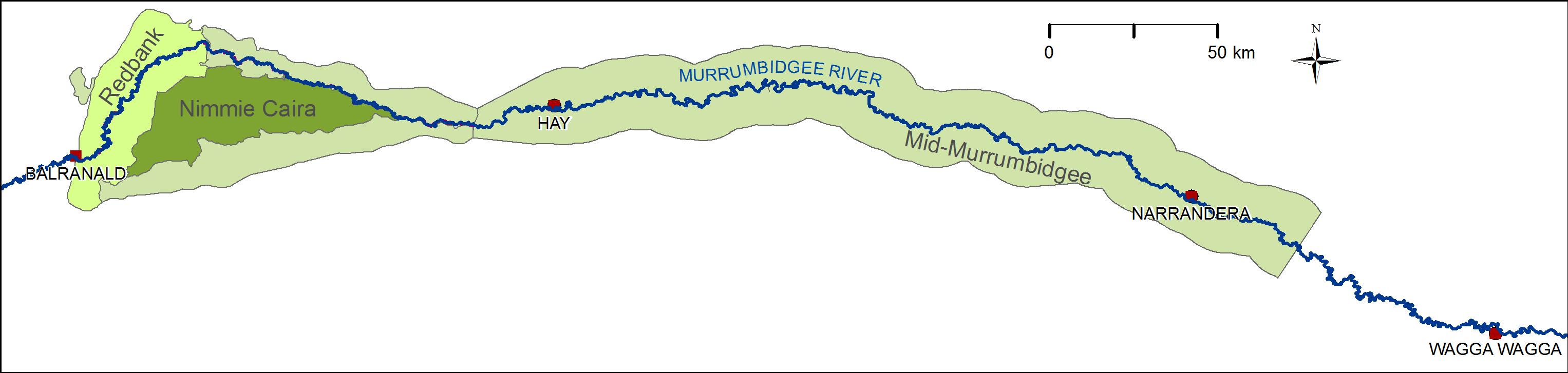 Map Murrumbidgee