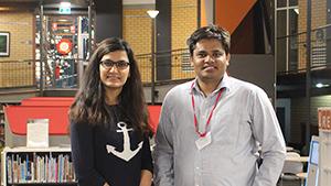 photo of Ms Forough Ataollahi and Mr Sajid Latif at the CSU student leadership conference